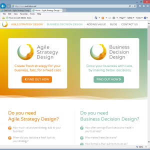 New website for Agile Strategy Design Ltd