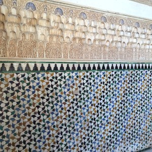 Repetition in patterns adorn the Alhambra palaces