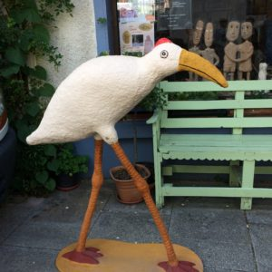 This bird's long legs enable it to take an aerial view, useful in independent assurance work.
